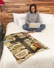 "Jes10093 - Jesus Way Maker Miracle Worker Small Fleece Blanket - 30"" x 40"" aos-coral-fleece-blanket-30x40-lifestyle-front-08"