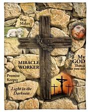 """Jes10093 - Jesus Way Maker Miracle Worker Small Fleece Blanket - 30"""" x 40"""" front"""