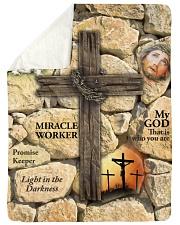 Jes10093 - Jesus Way Maker Miracle Worker Sherpa Fleece Blanket tile