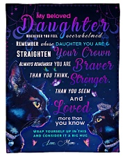 "BL10036 - Beloved Daughter Cat Night Small Fleece Blanket - 30"" x 40"" front"