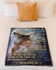 """JES10054BL -  A Prayer For Daughter Small Fleece Blanket - 30"""" x 40"""" aos-coral-fleece-blanket-30x40-lifestyle-front-04"""