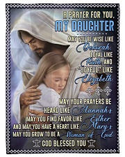"""JES10054BL -  A Prayer For Daughter Small Fleece Blanket - 30"""" x 40"""" front"""