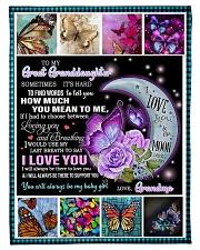"FBC10022 - Great Granddaughter Butterfly Small Fleece Blanket - 30"" x 40"" front"