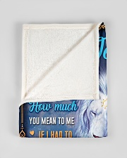 """BL10048N - To My Jessica Dad Letter Lion Small Fleece Blanket - 30"""" x 40"""" aos-coral-fleece-blanket-30x40-lifestyle-front-17"""