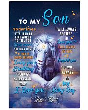 CV10026 - To My Son Dad Letter Lion 11x17 Poster front