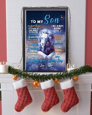 CV10026 - To My Son Dad Letter Lion 11x17 Poster lifestyle-holiday-poster-4