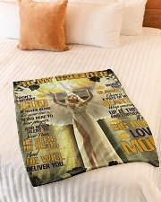 """Jes10087 - God Is Never Blind To Your Tears Small Fleece Blanket - 30"""" x 40"""" aos-coral-fleece-blanket-30x40-lifestyle-front-01"""
