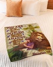 """JES10094 - You Are A Daughter Of God Small Fleece Blanket - 30"""" x 40"""" aos-coral-fleece-blanket-30x40-lifestyle-front-01"""
