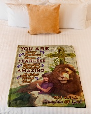 """JES10094 - You Are A Daughter Of God Small Fleece Blanket - 30"""" x 40"""" aos-coral-fleece-blanket-30x40-lifestyle-front-04"""