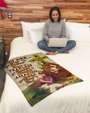 """JES10094 - You Are A Daughter Of God Small Fleece Blanket - 30"""" x 40"""" aos-coral-fleece-blanket-30x40-lifestyle-front-08"""