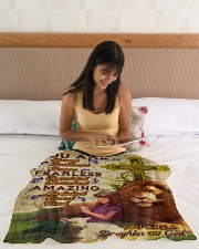 """JES10094 - You Are A Daughter Of God Small Fleece Blanket - 30"""" x 40"""" aos-coral-fleece-blanket-30x40-lifestyle-front-12"""