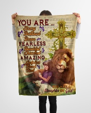 """JES10094 - You Are A Daughter Of God Small Fleece Blanket - 30"""" x 40"""" aos-coral-fleece-blanket-30x40-lifestyle-front-14"""