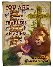 """JES10094 - You Are A Daughter Of God Small Fleece Blanket - 30"""" x 40"""" front"""