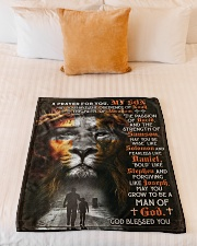 """JES10081BL - A Prayer For My Son Small Fleece Blanket - 30"""" x 40"""" aos-coral-fleece-blanket-30x40-lifestyle-front-04"""