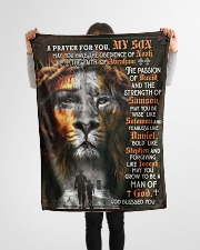 """JES10081BL - A Prayer For My Son Small Fleece Blanket - 30"""" x 40"""" aos-coral-fleece-blanket-30x40-lifestyle-front-14"""