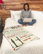 """FBL10012 - To My Son With Love Dad Letter Family  Small Fleece Blanket - 30"""" x 40"""" aos-coral-fleece-blanket-30x40-lifestyle-front-08"""