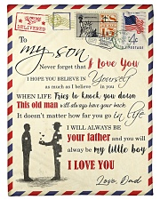 """FBL10012 - To My Son With Love Dad Letter Family  Small Fleece Blanket - 30"""" x 40"""" front"""