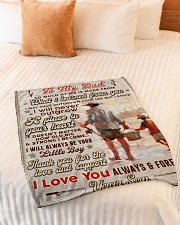 """BL10100 - To My Dad Fishing Love Son Small Fleece Blanket - 30"""" x 40"""" aos-coral-fleece-blanket-30x40-lifestyle-front-01"""