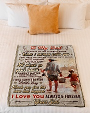 """BL10100 - To My Dad Fishing Love Son Small Fleece Blanket - 30"""" x 40"""" aos-coral-fleece-blanket-30x40-lifestyle-front-04"""