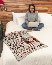 """BL10100 - To My Dad Fishing Love Son Small Fleece Blanket - 30"""" x 40"""" aos-coral-fleece-blanket-30x40-lifestyle-front-08"""