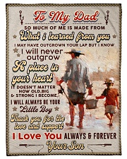 """BL10100 - To My Dad Fishing Love Son Small Fleece Blanket - 30"""" x 40"""" front"""