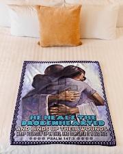 "JES10040BL - Jesus Christ  Small Fleece Blanket - 30"" x 40"" aos-coral-fleece-blanket-30x40-lifestyle-front-04"