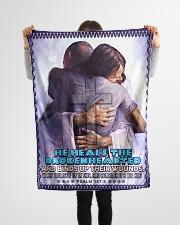 "JES10040BL - Jesus Christ  Small Fleece Blanket - 30"" x 40"" aos-coral-fleece-blanket-30x40-lifestyle-front-14"