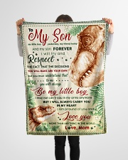 """BL10039 - To My Son Be My Little Boy Dinosaur Small Fleece Blanket - 30"""" x 40"""" aos-coral-fleece-blanket-30x40-lifestyle-front-14"""