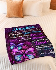 """BL10062 - Daughter Butterfly Night Mom Love Small Fleece Blanket - 30"""" x 40"""" aos-coral-fleece-blanket-30x40-lifestyle-front-01"""