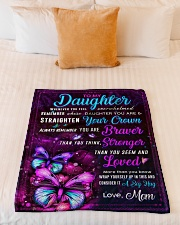 """BL10062 - Daughter Butterfly Night Mom Love Small Fleece Blanket - 30"""" x 40"""" aos-coral-fleece-blanket-30x40-lifestyle-front-04"""
