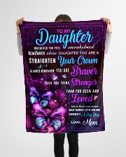 """BL10062 - Daughter Butterfly Night Mom Love Small Fleece Blanket - 30"""" x 40"""" aos-coral-fleece-blanket-30x40-lifestyle-front-14"""