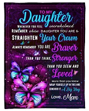 """BL10062 - Daughter Butterfly Night Mom Love Small Fleece Blanket - 30"""" x 40"""" front"""
