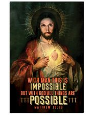 JES10002PT - Jesus Christ All Things Are Possible 11x17 Poster front