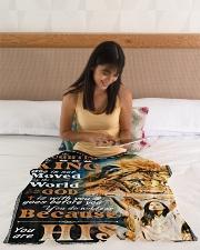 "JES10048BL - Jesus Christ  Small Fleece Blanket - 30"" x 40"" aos-coral-fleece-blanket-30x40-lifestyle-front-12"