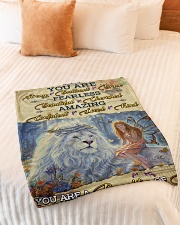 """JES10098 - You Are A Daughter Of God Small Fleece Blanket - 30"""" x 40"""" aos-coral-fleece-blanket-30x40-lifestyle-front-01"""