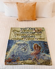 """JES10098 - You Are A Daughter Of God Small Fleece Blanket - 30"""" x 40"""" aos-coral-fleece-blanket-30x40-lifestyle-front-04"""