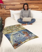 """JES10098 - You Are A Daughter Of God Small Fleece Blanket - 30"""" x 40"""" aos-coral-fleece-blanket-30x40-lifestyle-front-08"""