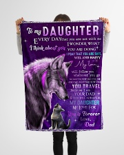 """FBC10005 - Wolf To My Daughter Everyday Small Fleece Blanket - 30"""" x 40"""" aos-coral-fleece-blanket-30x40-lifestyle-front-14"""