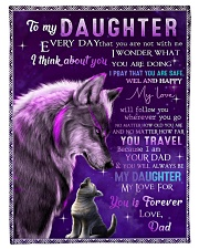 """FBC10005 - Wolf To My Daughter Everyday Small Fleece Blanket - 30"""" x 40"""" front"""