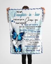 """FBC10014 - Daughter In Law Small Fleece Blanket - 30"""" x 40"""" aos-coral-fleece-blanket-30x40-lifestyle-front-14"""