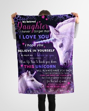 """BL10017 - Beloved Daughter Unicorn 3 Small Fleece Blanket - 30"""" x 40"""" aos-coral-fleece-blanket-30x40-lifestyle-front-14"""