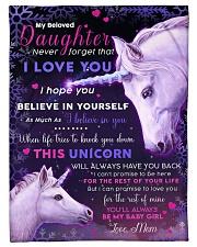 "BL10017 - Beloved Daughter Unicorn 3 Small Fleece Blanket - 30"" x 40"" front"