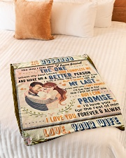 """BL10089 - To My Husband Whom My Soul Loves Small Fleece Blanket - 30"""" x 40"""" aos-coral-fleece-blanket-30x40-lifestyle-front-01"""
