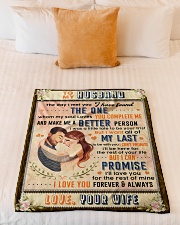 """BL10089 - To My Husband Whom My Soul Loves Small Fleece Blanket - 30"""" x 40"""" aos-coral-fleece-blanket-30x40-lifestyle-front-04"""