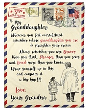 """FBL10062 To My Granddaughter Letter Family Small Fleece Blanket - 30"""" x 40"""" front"""