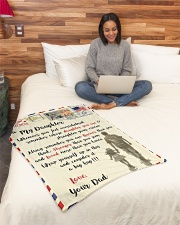 """FBL10082 - To My Daughter Dad Letter Family  Small Fleece Blanket - 30"""" x 40"""" aos-coral-fleece-blanket-30x40-lifestyle-front-08"""