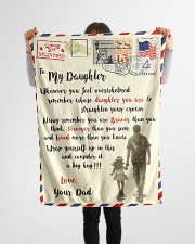 """FBL10082 - To My Daughter Dad Letter Family  Small Fleece Blanket - 30"""" x 40"""" aos-coral-fleece-blanket-30x40-lifestyle-front-14"""