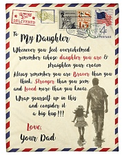 """FBL10082 - To My Daughter Dad Letter Family  Small Fleece Blanket - 30"""" x 40"""" front"""