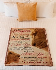 """BL10011 - My Daughter Lion Dad Letter Small Fleece Blanket - 30"""" x 40"""" aos-coral-fleece-blanket-30x40-lifestyle-front-04"""