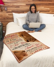 """BL10011 - My Daughter Lion Dad Letter Small Fleece Blanket - 30"""" x 40"""" aos-coral-fleece-blanket-30x40-lifestyle-front-08"""